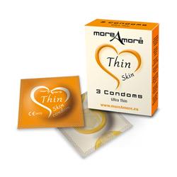 3 Preservativi Sottili More Amore