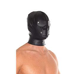 Maschera Integrale in Pelle con Paraocchi Removibili