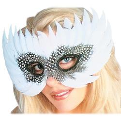 Maschera per Occhi con Piume Bianche