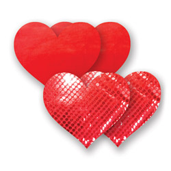 Pasties Solid Red a Forma di Cuore